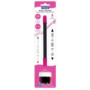 food art pen, brush, pink
