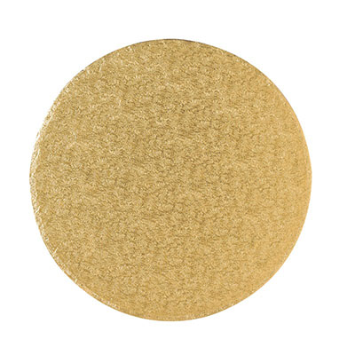 Cake Board Round Gold Fern 7''