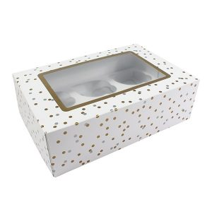 polka dot cupcake, muffin box