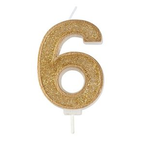 gold 6 candle