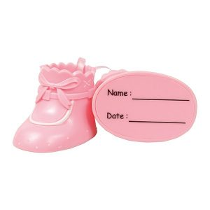 light pink bootie cake topper