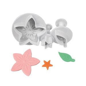 flower, leaf, star cutter set