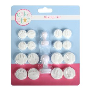 stamp set, feet, hands, paw print