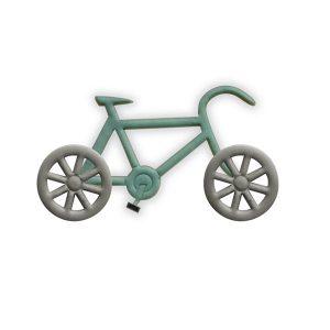 bike cookie cutter, fondant, sugar paste