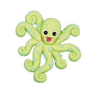 green candy octopus, mould
