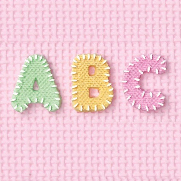 Alphabet baking moulds