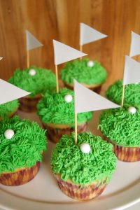 father day cakes to bake with kids Golf Cupcake